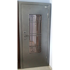 Дверь металл со стеклом.