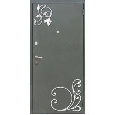 Дверь металл с кованым элементом